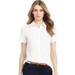 NEW! Brooks brothers. Short sleeve button down top